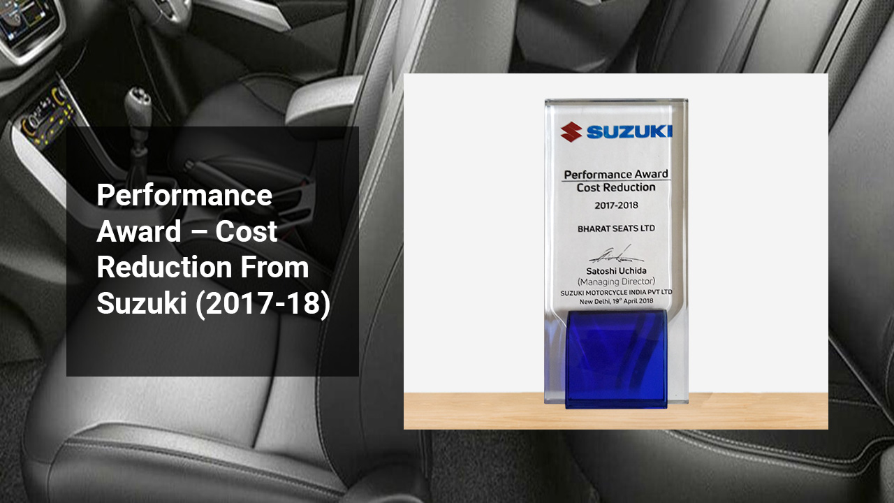 Performance Award – Cost Reduction From Suzuki (2017-18)