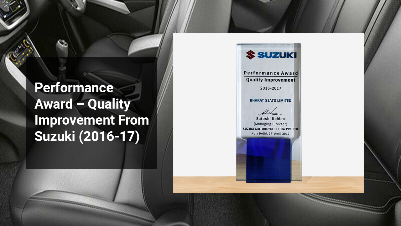 Performance Award – Quality Improvement From Suzuki (2016-17)