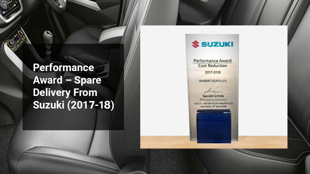 Performance Award – Spare Delivery From Suzuki (2018-19)