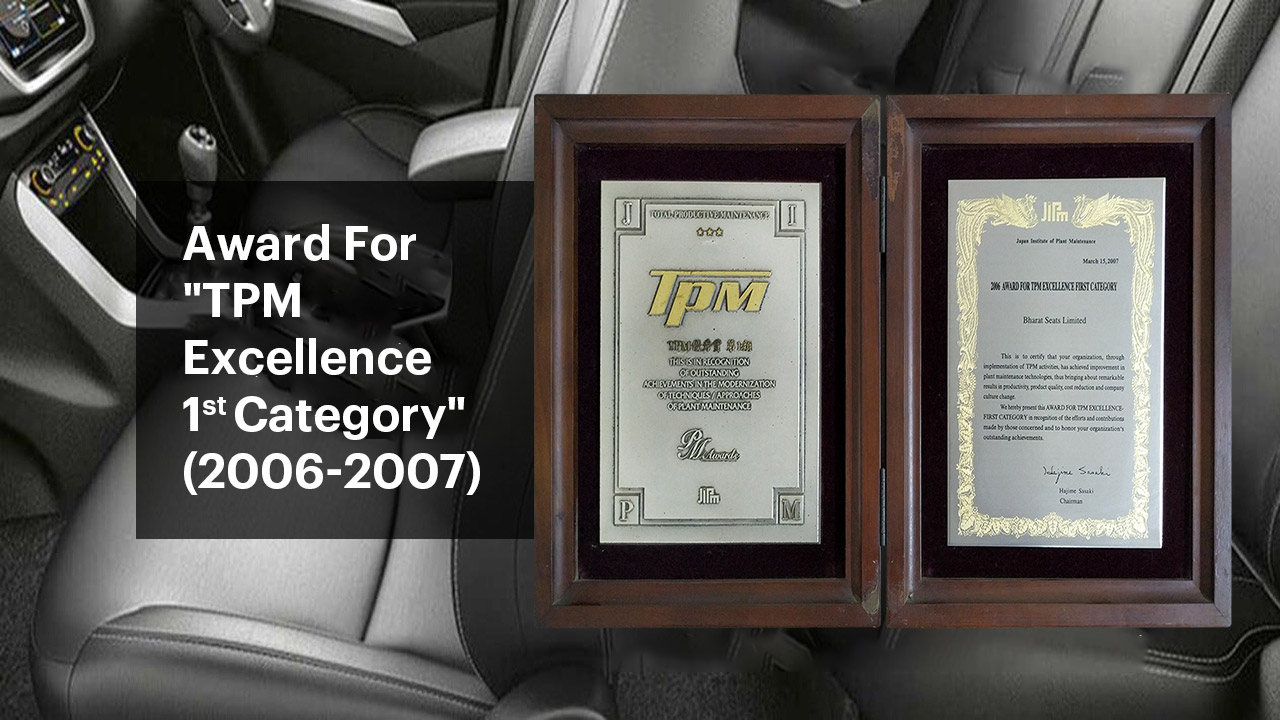 "Award for TPM Excellence 1"" Category (2006-2007)"